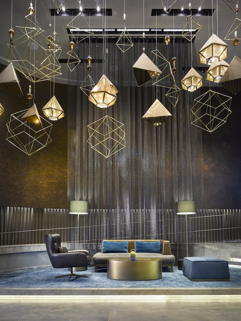 The Creation Of The Suspended Sculptural Lighting Feature Began With The  Simple Idea Of Deconstructing Arabic Geometries. In The Beginning, There  Was The ...
