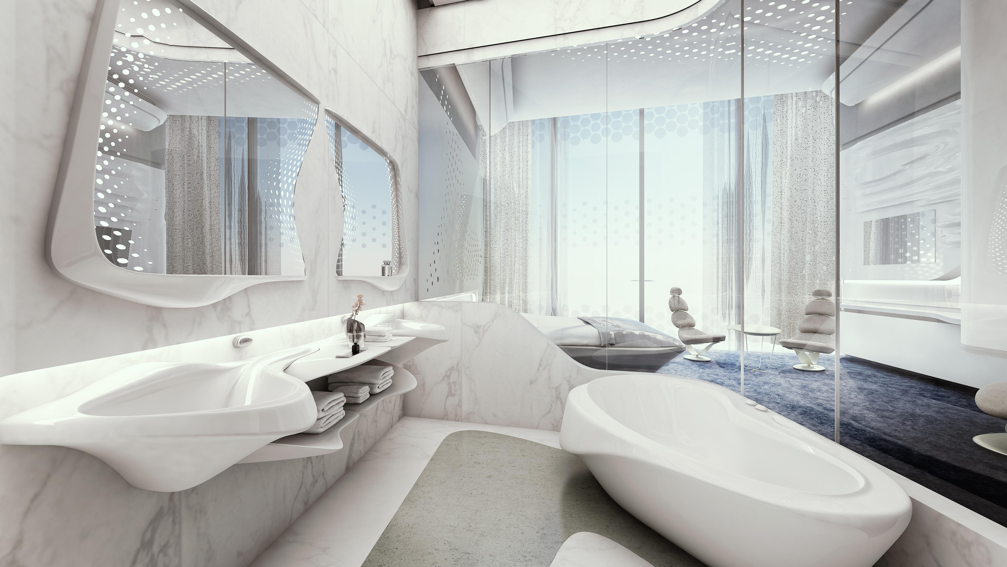 Niedlich Designer Wohnungen Von Zaha Hadid Dubai Bilder - Die ...