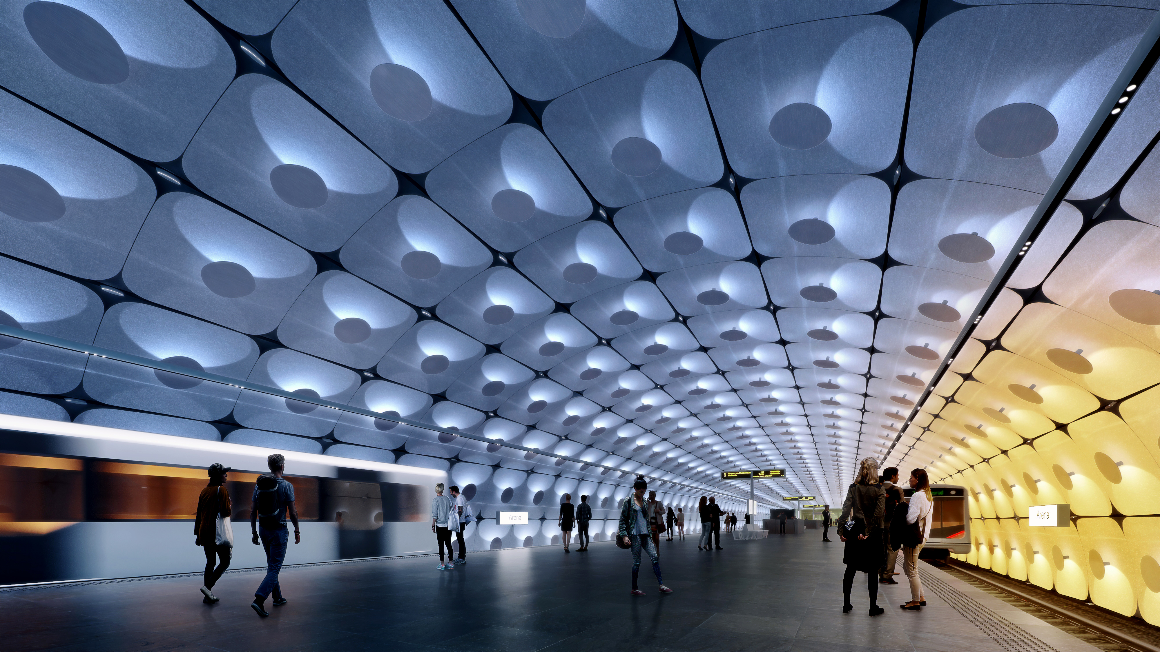 Zaha Hadid Architects and A_Lab to make two metro stations